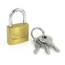 WOLFDOG Mini Size Security 20mm Width Door Lock Brass Padlock with 3 Keys LW