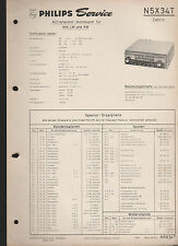 "Philips "" Autosuper N5X34T Cabrio "" / Service Anleitung -service manual"