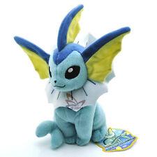 """New 7.5"""" VAPOREON Pokemon Rare Soft Plush Toy Doll/PC2072"""
