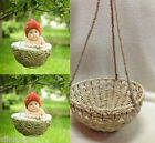 New Creative Cradle Photography Prop Handmade Woven Basket for Newborn Baby D-2
