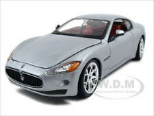 2008 MASERATI GRAN TURISMO SILVER/GREY 1:24 DIECAST MODEL CAR BY BBURAGO 22107