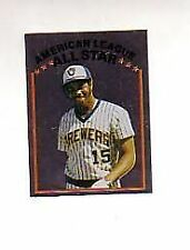 1981 Topps Stickers Cecil Cooper #241 Mini Sticker Baseball Card