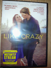 LIKE CRAZY (DVD, 2012) BRAND NEW, FACTORY SEALED! FREE USPS 1ST CLASS SHIPPING!