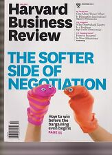 HARVARD BUSINESS REVIEW MAGAZINE DEC 2015, THE SOFTER SIDE OF NEGOTIATION.