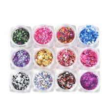 1box Nail Art Glitter Powder Dust For UV GEL Acrylic Powder Decoration Tips Pink