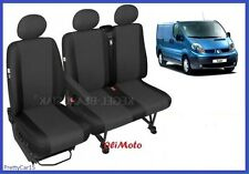 Tailored Seat Covers Single & Double 2+1 For Renault Trafic up to 2014