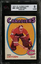 1971-72~O-PEE-CHEE~#45~KEN DRYDEN~HOF ROOKIE CARD~MONTREAL CANADIENS~KSA 8 NM-MT