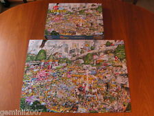 GIBSONS PUZZLE I Love Car Boot Sales - Mike Jupp 1000 Piece Jigsaw Complete XMAS