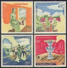 Laos 1964 Monarchy/Palace/Map/Buddha/Soldier/Religion/Buildings 4v set (n35212)