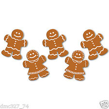 """10 CHRISTMAS Holiday Party Decorations Paper Mini DIE CUT GINGERBREAD CUTOUTS 5"""""""