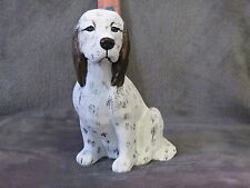 English Setter Plaster Dog Statue Hand Cast And Painted By T.C. Schoch