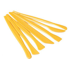 7pcs Professional Plastic Clay Craft Pottery Modeling Clay Wax Sculpture Tool