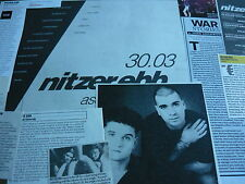 NITZER EBB - MAGAZINE CUTTINGS COLLECTION (REF Z18)