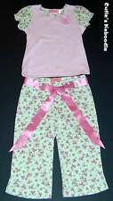 NEW NWT BABY NAY PINK TANGERINE Spring Pink Flutter Flowers 2pc Tee Pants Set 5