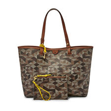 New Fossil Rachel PVC Tote Multi Brown ZB6818249