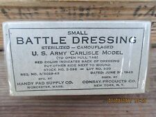 Original WWII WW2 Carlisle Bandage For M1942 First Aid Belt Pouch June 30 1943