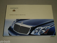 Betriebsanleitung Operator's Owner's Manual Maybach 57 62, Stand 03/2004