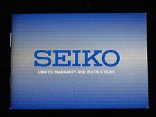 NOS SEIKO WRIST WATCH INSTRUCTION MANUAL BOOK GUIDE BOOKLET QUARTZ AUTO + ANALOG