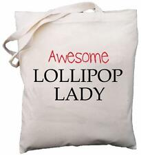 Awesome Lollipop Lady - Natural Cotton Shoulder Bag - Gift