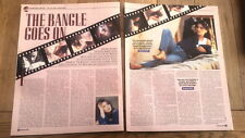 BANGLES : Susanna Hoffs goes on 2 page UK ARTICLE / clipping