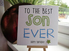 Modern Handmade Personalised 'Best Ever' Birthday Card Son Brother Dad Grandson