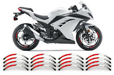 "AMR Racing 17"" Inch Street Bike Rim Trim Sticker Wheel Stripe Vinyl Decals SPT R"