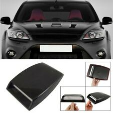 Car Decorative Air Scoop Flow Vent Decorative Bonnet Cover Car Hood Scoop Black