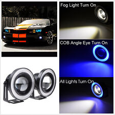 "2.5"" Angel Eye Blue COB Halo Ring LED Projector Glass Lens Car Driving Fog Light"