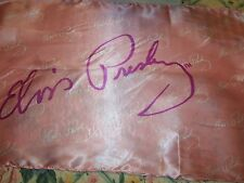 ELVIS PRESLEY AUTOGRAPH SIGNED **  MINT PINK SCARF FROM LAS VEGAS