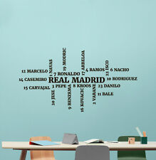 Real Madrid Wall Decal Football Player Squad Vinyl Sticker Art Decor Mural 23nnn