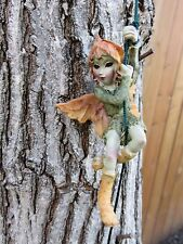6 Pixies Hanging on Rope Anthony Fisher PIXIE 36in. garden yard decor figurine