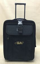 "TravelPro Crew Series Plus Classic Black 18"" Compact Wheeled Carry On Suitcase"
