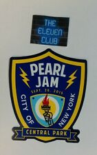 Pearl Jam Sticker 9-26-15 Global Festival Central Park NYPD shield NY Badge LE
