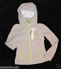 ABERCROMBIE USA WOMENS A&F ACTIVE FULL ZIP JACKET GREY SIZE M WINDBREAKER