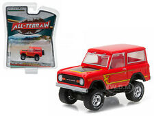 1977 FORD BRONCO OFF ROAD RESCUE RED ALL TERRAIN 4 1/64 BY GREENLIGHT 35050 B