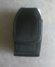 Small Flip Phone Rugged Durable Nylon Pouch Case Both Metal Clip & Belt Loop