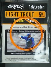 AIRFLO Polyleader LIGHT TROUT 5ft |1,50 Mtr. INDICATOR FLOATING fluo orange