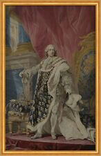 Portrait of Louis XV in his royal costume Pierre Cozette Adel König B A2 03090