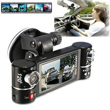 Camera Dual Lens Car Vehicle DVR Dash Cam Two Lens Video Recorder F600 Black New