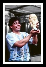 DIEGO MARADONA ARGENTINA WORLD CUP 86 SIGNED & FRAMED PP POSTER PHOTO