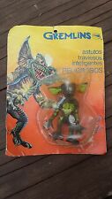 "1980's MEXICO 3 1/2"" ACTION FIGURE PLASTIC GREMLINS ""STRIPE"" WARNER BROS.ON CARD"