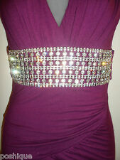 Sky Clothing Brand M Dress NWT $200 Nesta Rhinestone Crystal Purple Open Back