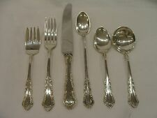 GEORGIAN ROSE BY REED & BARTON STERLING SILVER FLATWARE 6 PIECE SET
