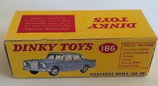 Dinky 186 Mercedes Benz 220 SE Empty Repro Box Only