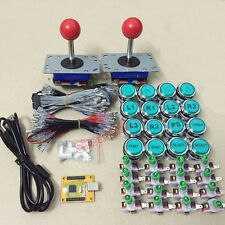 Arcade MAME DIY KIT: PC PS3 USB encoder & 2 joystickS & 20 LED icon push buttons