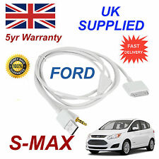 FORD SMAX 1529487 Für Apple 3GS 4 4s iPhone iPod USB & Aux Audiokabel Weiß