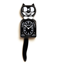 Classic  KIT KAT KLOCK - BLACK KITTY CAT CLOCK - MADE IN THE USA - FS Same Day