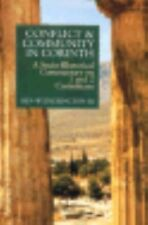 Conflict and Community in Corinth A Socio-Rhetorical Commentary 1 & 2 Corinthian