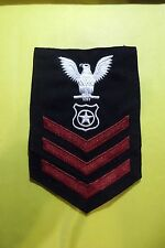 Military Petty Officer First Class PO1 E6 Enlisted US Navy Insignia Patch #347