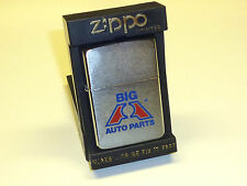 "VINTAGE ZIPPO LIGHTER ""BIG A AUTO PARTS"" - ADVERTISING - UNUSED- W/BOX - 1986"